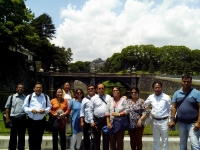 Seven Sisters Group in front of Imperial Palace